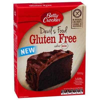 Betty Crocker Devils Food Cake Mix Gluten Free