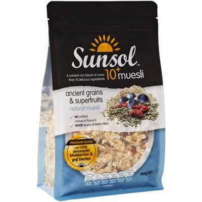 Sunsol Ancient Grains & Superfruits 10+ Muesli
