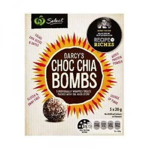 Recipe To Riches Darcy's Choc Bombs Cacao Chia Seeds & Dates