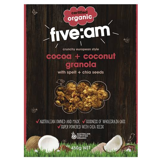 Five:am Organic Cocoa & Coconut Granola