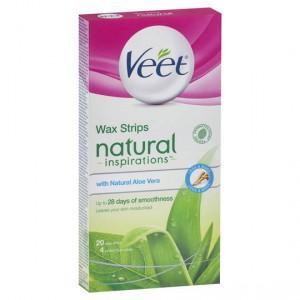 Veet Natural Hair Removal Wax Aloe Vera Cold Strips