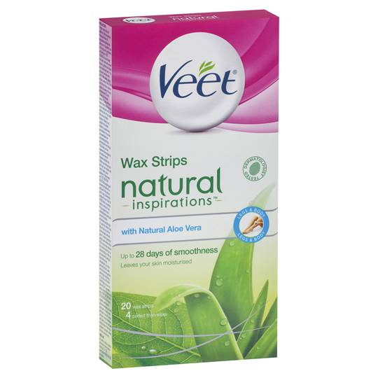 Veet Natural Hair Removal Wax Aloe Vera Cold Strips