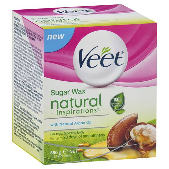 Veet Hair Removal Wax Natural Argan Oil