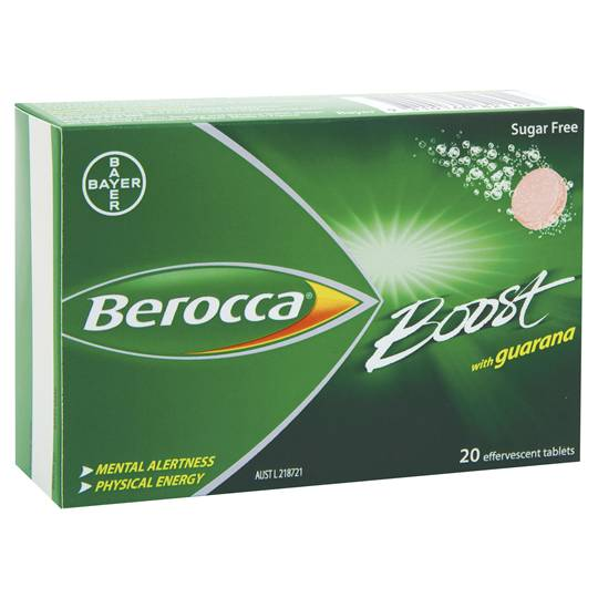 Berocca Boost With Guarana Effervescent Tablets