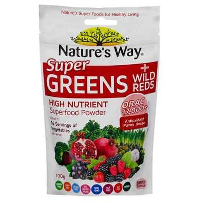 Nature's Way Super Greens &wild Reds Berry Powder
