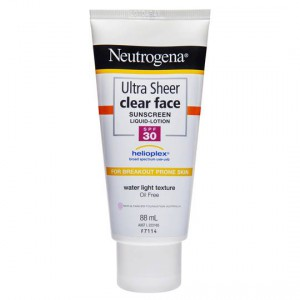 Neutrogena Spf 30+ Sunscreen Ultra Sheer Clear Face