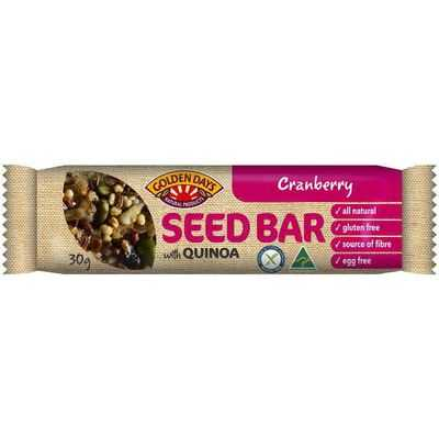 Golden Days Seed Bar With Quinoa Cranberry
