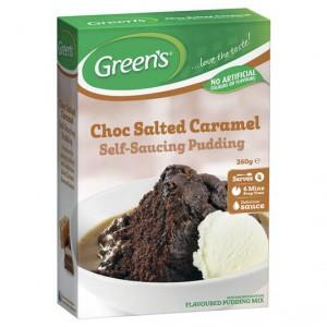 Greens Self Saucing Pudding Mix Choc Salted Caramel