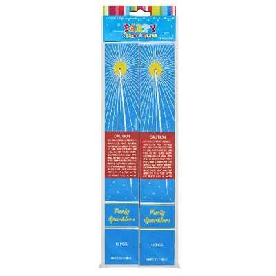 Party Candle Sparkler 24 Pack 2x12