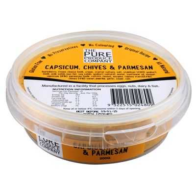 The Pure Produce Company Dip Capsicum, Chives & Parmasan