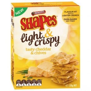 Shapes Light & Crispy Snacks Cheddar & Chives