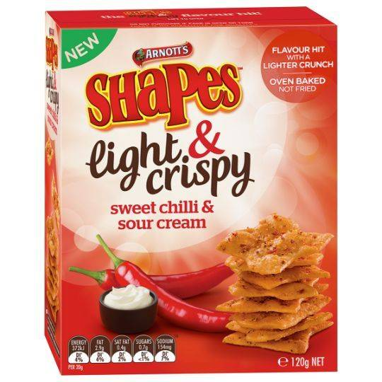 Shapes Light & Crispy Snacks Sweet Chilli Sour Cream