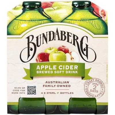 Bundaberg Apple Cider Brewed Soft Drink