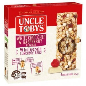 Uncle Tobys Chewy Raspberry & White Choc Chip