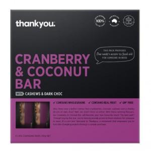 Thankyou Cranberry & Coconut Muesli Bars