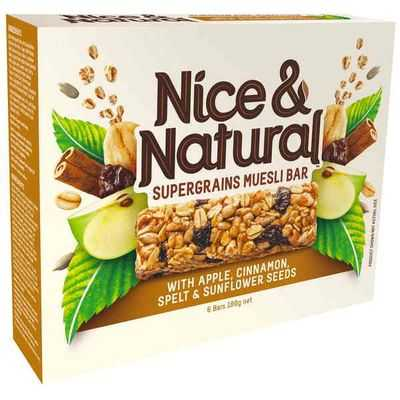 Nice & Natural Supergrain Bar Apple Cinnamon