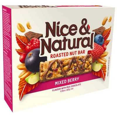 Nice & Natural Roasted Nut Bar Mixed Berry