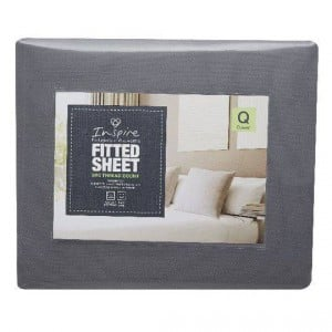 Inspire 500 Tc Queen Bed Plain Fitted Sheet