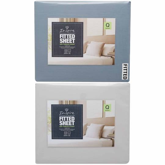 Inspire 500 Tc Queen Bed Fitted Sheet