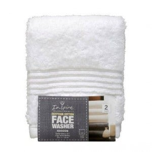 Inspire Premium Face Washer White
