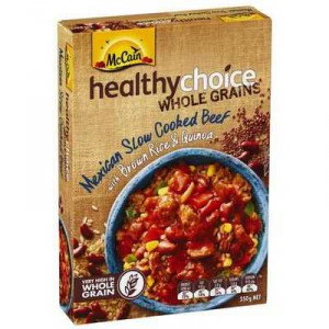 Mccain Healthy Choice Wholegrains Mexican Slow Cooked Beef