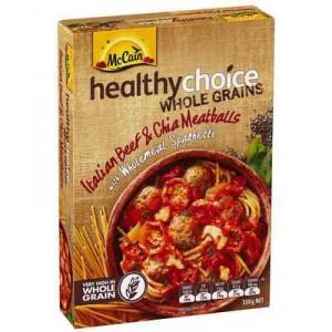 Mccain Healthy Choice Wholegrains Italian Beef & Chia Meatballs