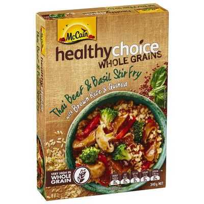 Mccain Healthy Choice Wholegrains Thai Beef & Basil Stir Fry