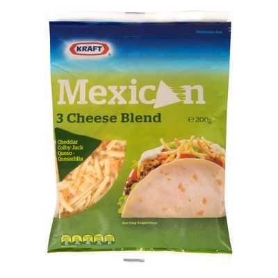 Kraft Grated Mexican 3 Cheese Blend