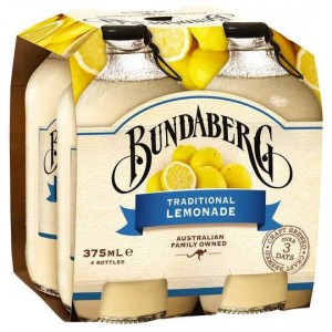 Bundaberg Traditional Lemonade 4x375ml