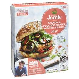 Created With Jamie Salmon & Pollock Burger With Feta & Spinach