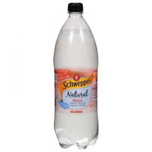 Schweppes Hint Of Peach Mineral Water