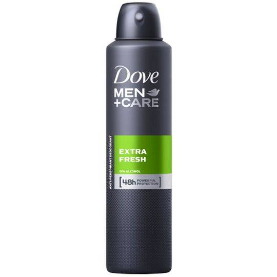 Dove Men Antiperspirant Deodorant Spray Extra Fresh Alcohol Free