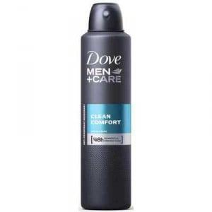 Dove Men Antiperspirant Deodorant Spray Clean Comfort Alcohol Free