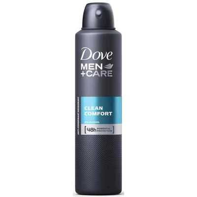 Dove Men Antiperspirant Deodorant Spray Clean Comfort Alcohol Free