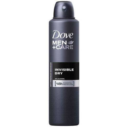 Dove Men Antiperspirant Deodorant Spray Invisible Dry Alcohol Free