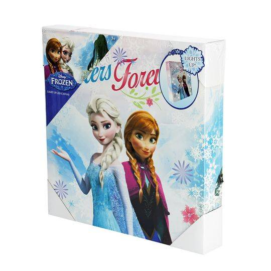 Frozen Led Metal Light Wall Canvas