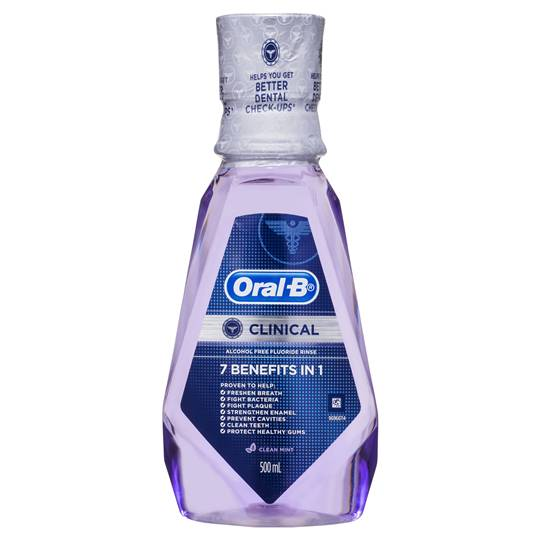 Oral-b Clinical Alcohol Free Fluoride Rinse Clean Mint