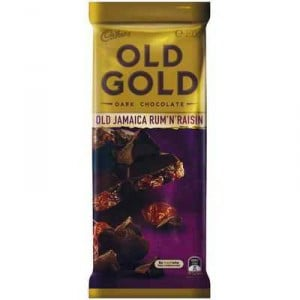 Cadbury Old Gold Dark Chocolate Old Jamaica Rum N Raisin