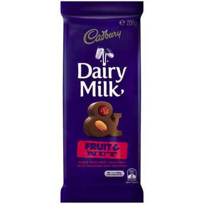 Cadbury Dairy Milk Chocolate Fruit & Nut