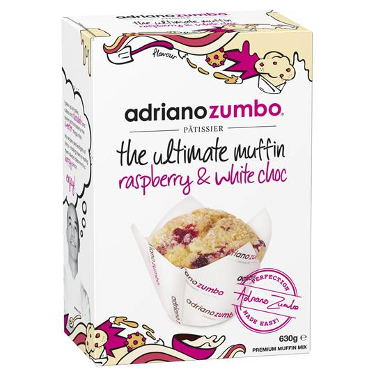 Adriano Zumbo White Chocolate & Raspberry Muffin Mix