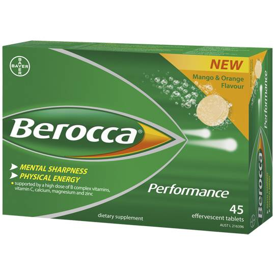 Berocca Performance Caffeine Free Effervescent Mango & Orange