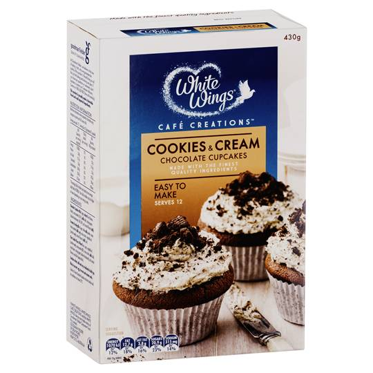 White Wings Cupcake Mix Cookies & Cream