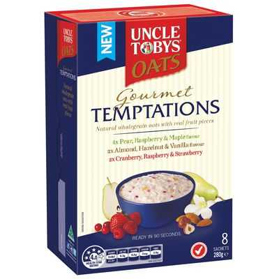 Uncle Tobys Gourmet Temptations Selection Oats