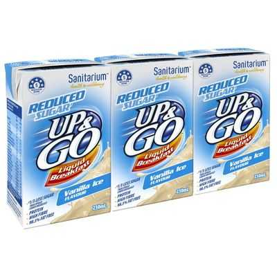 Sanitarium Up&go Reduced Sugar Liquid Breakfast Vanilla