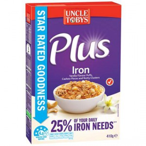 Uncle Tobys Plus With Iron