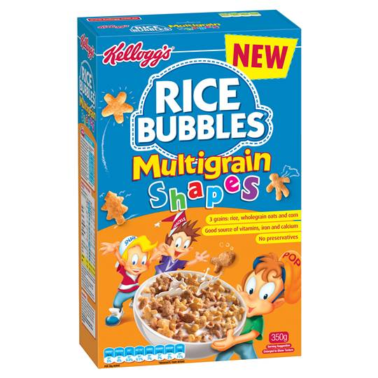 Kellogg's Rice Bubbles Multigrain Shapes