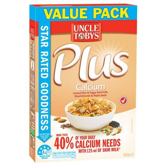Uncle Tobys Plus Calcium
