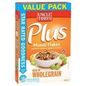 Uncle Tobys Plus Muesli Flakes