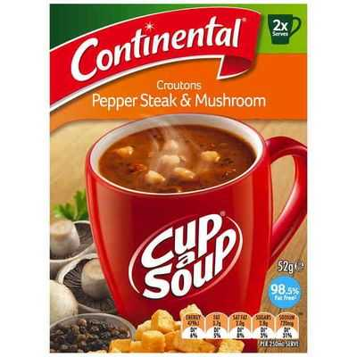 Continental Cup A Soup Croutons Pepper Steak & Mushroom