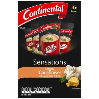 Continental Sensations Creamy Cauliflower Soup With Aged Cheddar & Chives